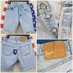 Vintage 501 Button Fly Reworked Americana Shorts